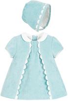 Mayoral Velveteen Dress Bonnet Set