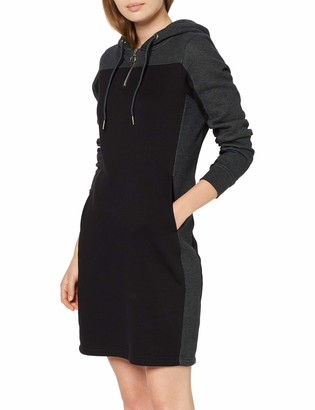 Urban Classics Women's Ladies 2-Tone Hooded Dress