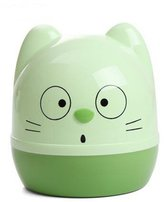 Cartoon cat Reel spool Family expenses plastic Round Pumping tray Creative living room WC tissue box green