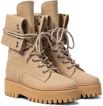 Dorothee Schumacher Ambition cotton canvas combat boots