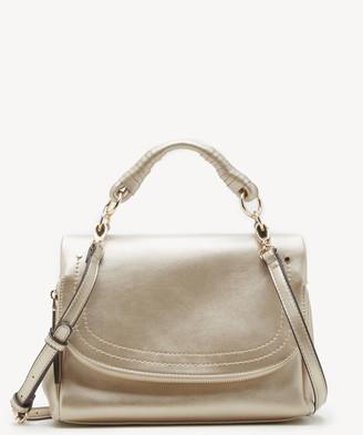 Sole Society Women's Rubie Crossbody Vegan Bag Metallic Gold Vegan Leather From