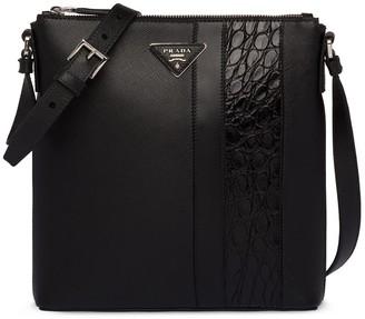 Prada Crocodile Panel Messenger Bag