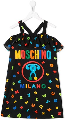 MOSCHINO BAMBINO TEEN letter print dress