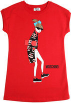 Moschino Girl Printed Cotton Sweatshirt Dress