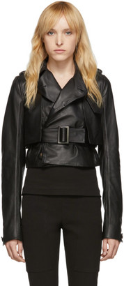 Rick Owens Black Short Trench Jacket