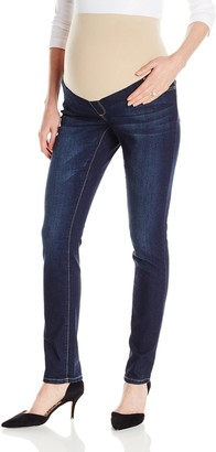 Three Seasons Maternity Women's Maternity Skinny Denim with Neutral Belly Band