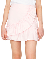 Miss Selfridge Poplin Ruffle Mini Skirt, Pink