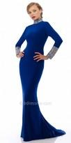 Nika Iconic Embellished Long Sleeve Evening Dress