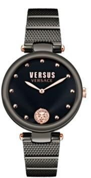 Versus By Versace Versus Women's Los Feliz Black Stainless Steel Bracelet Watch 34mm