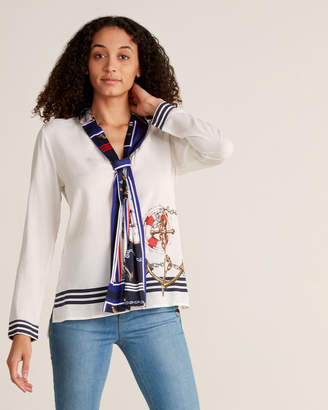 Desigual White Nautical Blouse