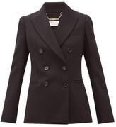 Chloé Festive Double-breasted Wool-blend Blazer - Womens - Black