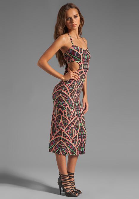 Mara Hoffman Tie Back Cut-Out Maxi Dress