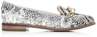 Moda In Pelle Welony White-Gold Snake Print