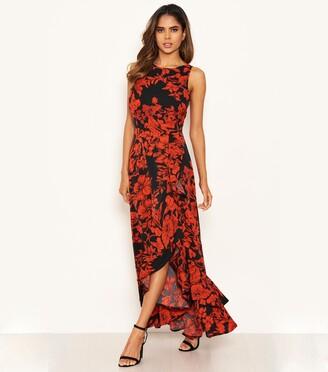 New Look AX Paris Floral Ruffle Midaxi Dress