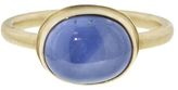 Jamie Joseph Oval Blue Star Sapphire Ring - Yellow Gold