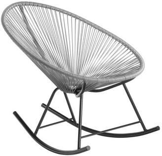 Latitude Run Meyerwood Wicker Rocking Chair Latitude Run Color: Orange