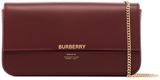 Burberry Horseferry print leather chain wallet