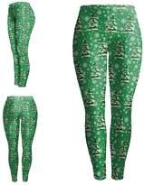 Kalin L 3D Digital Ugly Christmas Leggings for Women (S, )