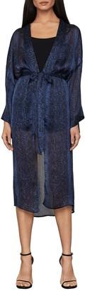 BCBGMAXAZRIA Snake Printed Belted Kimono