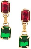 Chanel Pre Owned dangling faux-stones earrings