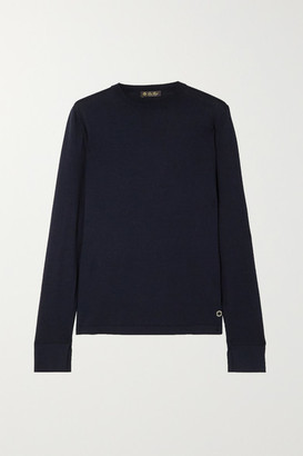 Loro Piana Silk And Cotton-blend Sweater - Navy