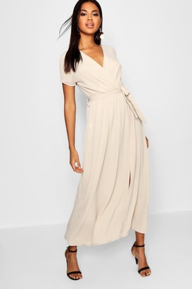 boohoo Wrap Maxi Dress