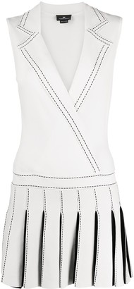 Elisabetta Franchi Pleated Skirt Mini Dress