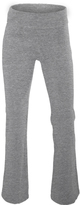 Soffe Oxford Gray Fold-Over Yoga Pants