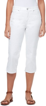 Bandolino Women's Mandie Curved-Hem Capri Jeans