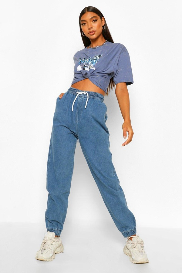 Thumbnail for your product : boohoo Tall Denim Joggers