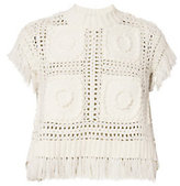 Sea Eyelet and Fringe Tee