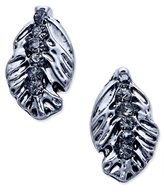 Vera Bradley Silver-Tone Pavé Feather Stud Earrings