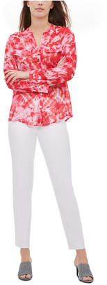 Calvin Klein Tie-Dyed Roll-Tab Blouse