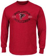 Profile Men's Atlanta Falcons Print Logo Long Sleeve Big & Tall T-Shirt