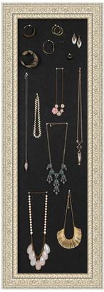 Amanti Art Framed Jewelry Organizer Black Corkboard, Large Panel, Fair Baroque Cr