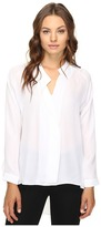 Heather Long Sleeve Silk Collared Blouse Women's Clothing