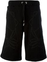 Les Hommes geometric print drawstring shorts