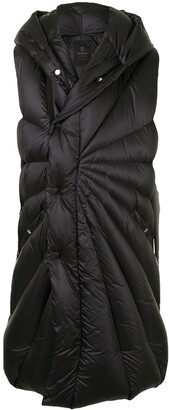 Moncler + Rick Owens Porterville padded mid-length coat