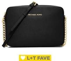 MICHAEL Michael Kors Jet Set Large Textured Leather Crossbody Bag