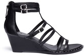Ash 'Nuba Bis' stud caged wedge sandals
