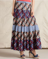 Skirt, Patchwork Pull On Maxi