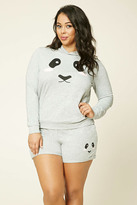 Forever 21 FOREVER 21+ Plus Size Panda Graphic Shorts