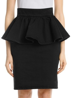 MSGM Peplum Denim Skirt