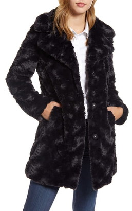 Kenneth Cole New York Textured Faux Fur Coat