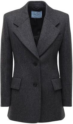 Prada Wool One Breast Blazer