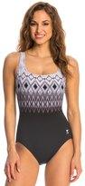 TYR Baltic Stripe Aqua Controlfit One Piece Swimsuit 8136476