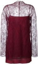 Nina Ricci floral lace overlay blouse