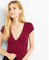 Express one eleven seamed deep v-neck tee