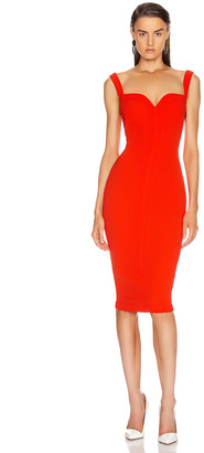Victoria Beckham Cami Fitted Dress in Tomato | FWRD