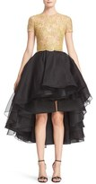 Women's Reem Acra Reembroidered Lace & Organza High/low Dress